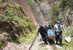 Huancavelica: Caminaba por la línea del tren y deslizamiento lo mata