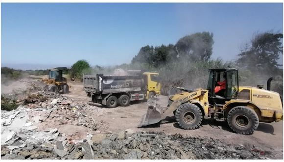 Jornada de limpieza ejecutada por la Municipalidad Provincial de Trujillo se realizó como medida adoptada en el marco de la declaratoria de emergencia por la contaminación de esta cuenca.