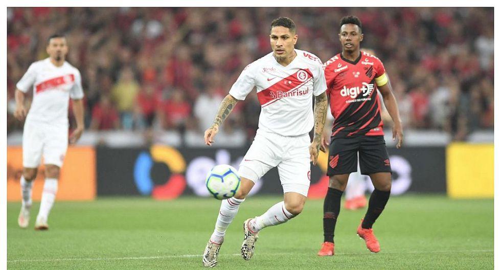 Paranaense derrotó 1-0 al Inter por la ida de la final de la Copa Brasil