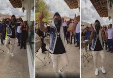 Christian Cueva llegó a su natal Huamachuco y encantó a lugareños bailando música típica (VIDEO)
