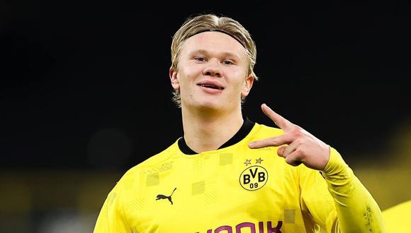 En Borussia Dortmund se pronunciaron sobre la reunión en Barcelona por Erling Haaland. (Foto: EFE)