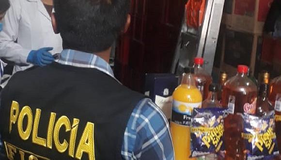 Cigarrillos y licores ilegales en Huancavelica