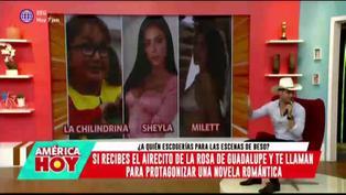 ¿Millet Figueroa, Sheyla Rojas o la Chilindrina? Guti responde a quién eligiría para escenas de besos en una novela