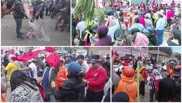 Queman banderolas y lanzan piedras en agresión a Perú Libre
