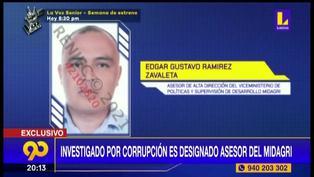 Investigado por corrupción es designado asesor en el Ministerio de Agricultura (VIDEO)