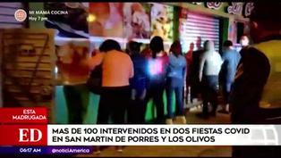 Intervienen a más de 100 personas en locales de Los Olivos y San Martin de Porres