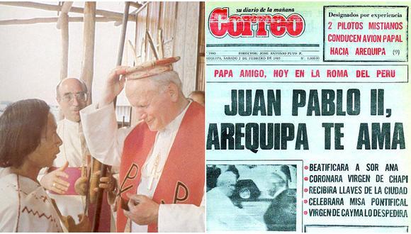Juan Pablo II: Recuerda la primera vez que visitó un papa el Perú (FOTOS)