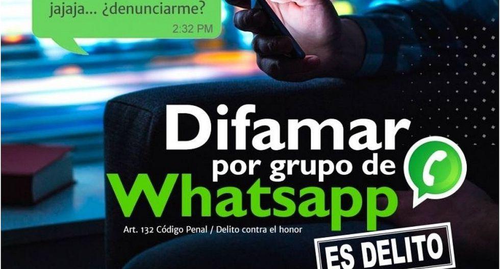 Poder Judicial advirtió que difamar a través de WhatsApp será castigado con 3 años de cárcel