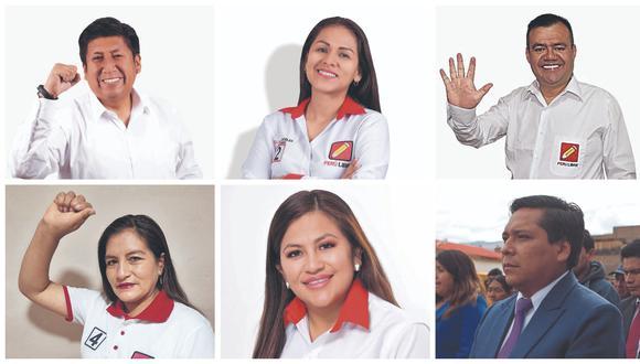 Candidatos de Perú libre para Junín
