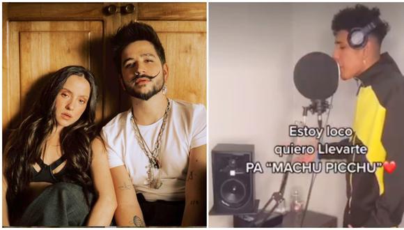 Joven se vuelve viral en TikTok por cambiar la letra de la canción 'Machu Picchu' de Camilo y Evaluna. (Fotos: Instagram / Tik Tok)
