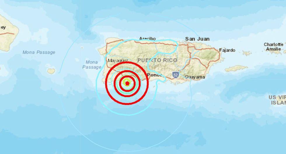 Sismo de magnitud 5,4 vuelve a sacudir todo Puerto Rico. (Captura)