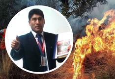 Trabajador municipal fallece en fuerte incendio forestal en Cusco (FOTOS)