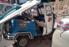 Vehículo impactó contra una moto torito en Juliaca