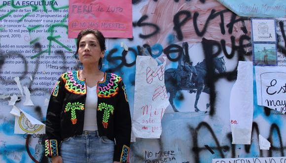 La obra, protagonizada por la actriz Julia Thays, parodia la carrera de una candidata al Congreso de la República. (Foto: FAE Lima)
