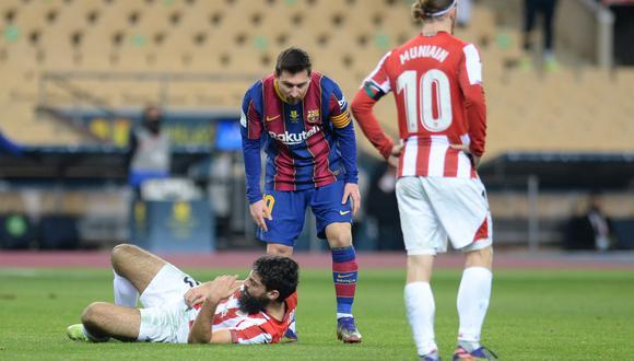 El otro ángulo de la expulsión de Lionel Messi. (Foto: AFP)