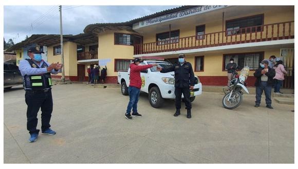 Servirá para reforzar las acciones de seguridad en el distrito de Angasmarca. Además, para apoyar emergencias de salud. (Foto: Cortesía)