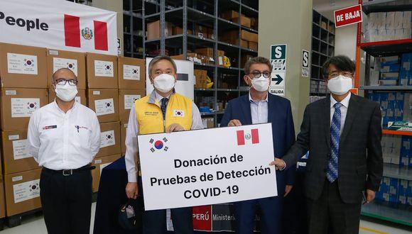 El Gobierno  de Corea del Sur donó pruebas rápidas al Perú. (Foto: Minsa)