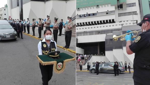 El homenaje estuvo presidido por el Comandante General de la PNP, José Luis Lavalle. (Foto composición: PNP)