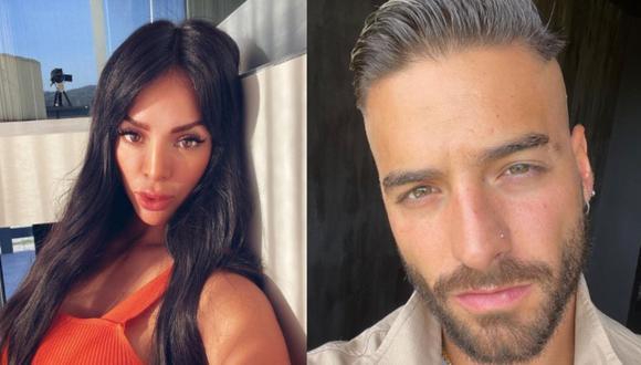 La modelo y el cantante fueron vinculados en más de una ocasión (Foto: Sheyla Rojas / Maluma / Instagram)