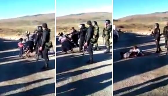 Apurímac: Agreden a mujer y pequeña durante protesta contra minera en Apurímac