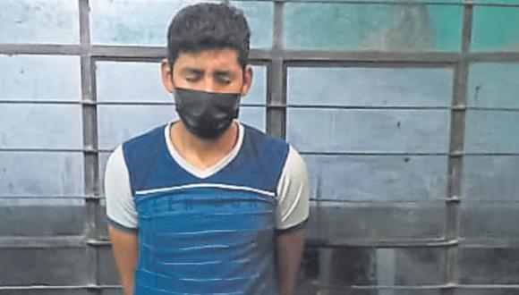 Carlos Dioses Camizán fue conducido a la dependencia policial para las diligencias de ley.