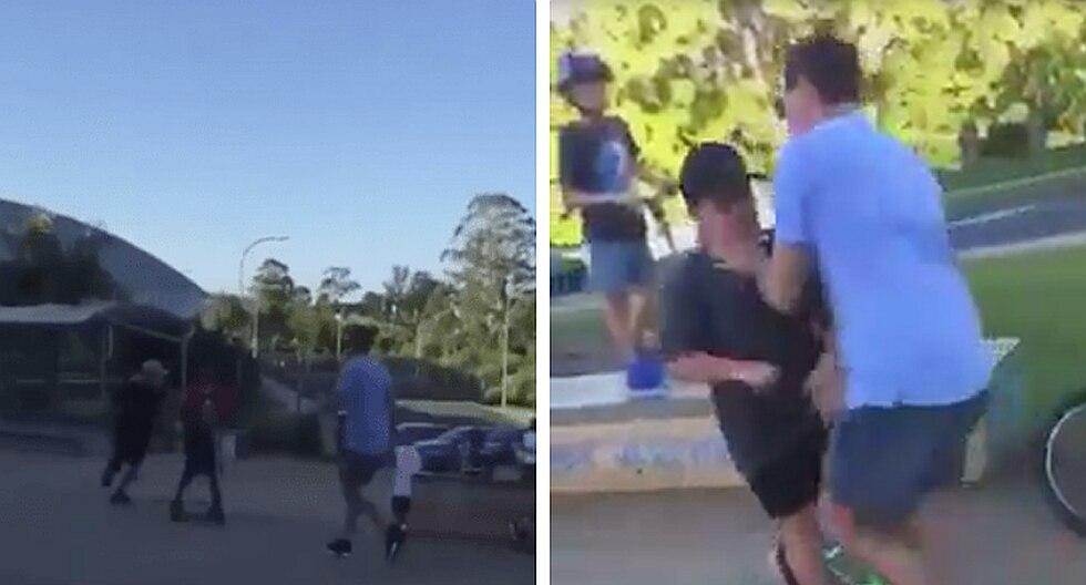 Padre ataca de esta manera a los acosadores de su hijo (VIDEO)