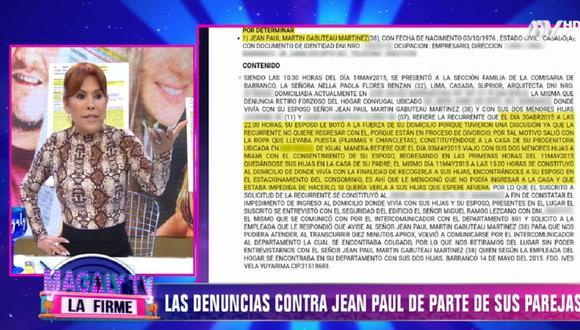 'Magaly TV: La Firme' puso en evidencia las denuncias que hay en contra de Jean Paul Gabuteau. (Foto: Captura ATV)