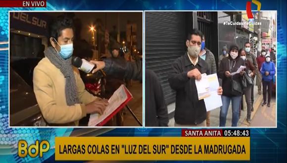 Comerciante denuncia que Luz del Sur le cobró más de S/ 4 000 pese a que su negocio estuvo cerrado por cuarentena (Captura: Buenos Días Perú)