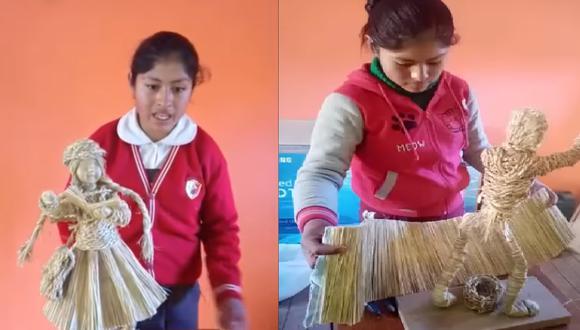 Estudiante utilizó para su proyecto paja, un recurso natural que abunda en su tierra.
