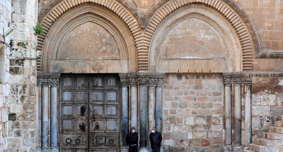 En Jerusalén, el Santo Sepulcro permanece cerrado. (AFP / Emmanuel DUNAND).