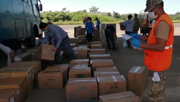 35 toneladas de medicinas e insumos fueron distribuidos en Madre de Dios durante la pandemia. (Foto: EsSalud)