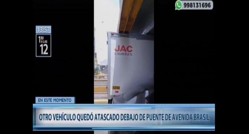 El suceso ocurrió a la altura de la cuadra 29 de la avenida Brasil, en el límite de los distritos de Pueblo Libre y Magdalena.(Captura: Canal N)