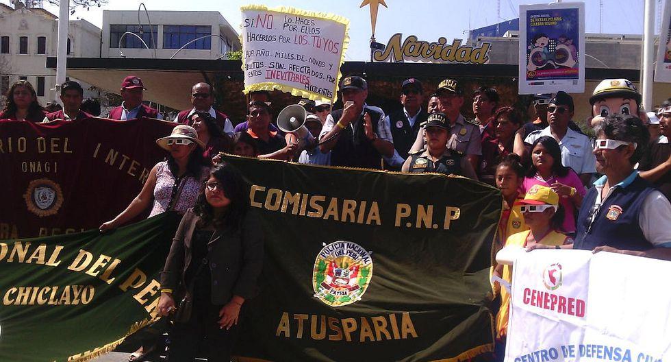 Lambayeque: Marcha de sensibilización contra el uso de pirotécnicos