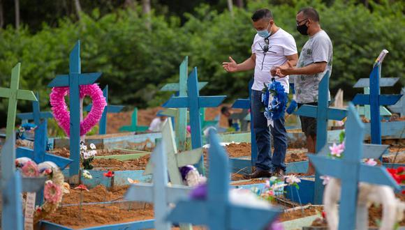 Brasil registra una tasa de mortalidad de 232 decesos por cada 100.000 habitantes y una incidencia de 8.286 personas infectadas en la misma proporción. (Foto:  Michael DANTAS / AFP)