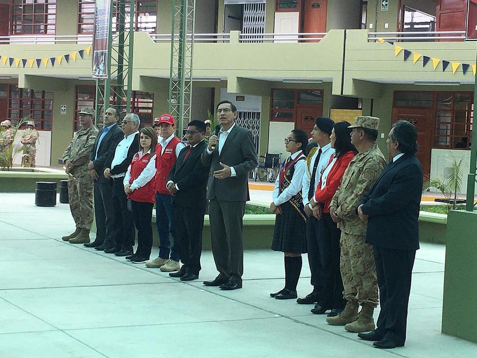 Presidente Vizcarra llegó a Tacna para inaugurar nueva infraestructura de colegio Nuestros Héroes del Pacífico