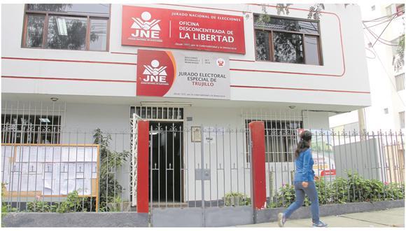 El Jurado Electoral Especial de Trujillo detectó inconsistencias en la información que postulantes consignaron y por eso decidió excluirlos del proceso electoral.