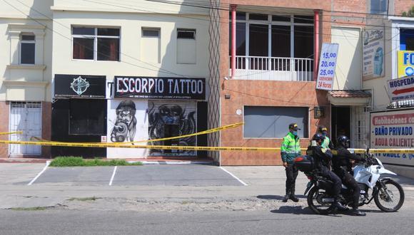 Joven muere en centro de barbería y tatuaje en el Cercado de Arequipa| Foto: Eduardo Barreda