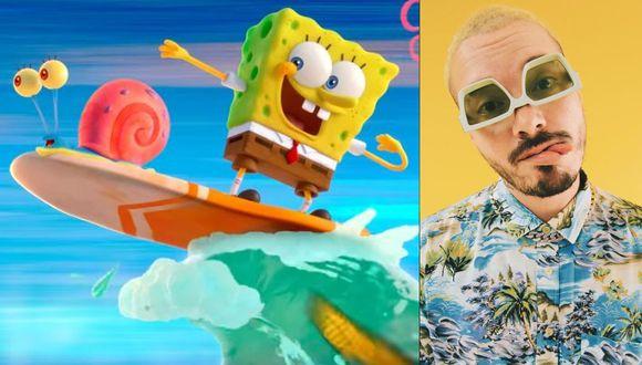 """""""Bob Esponja"""": Escucha """"Agua"""", el primer sencillo de la banda sonora de película animada en la voz de J Balvin. (Foto: Instagram)"""