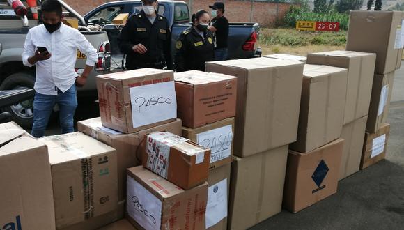 Pasco: entregan equipos de protección personal y medicamentos para pacientes COVID-19 (Foto: Mininter).