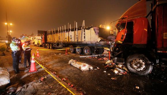 Accidente se produjo esta madrugada en la Panamericana Sur. Foto: César Grados/@photo.gec