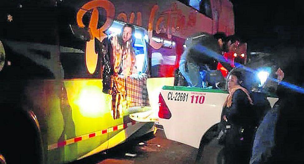 Choque de ómnibus deja varios heridos
