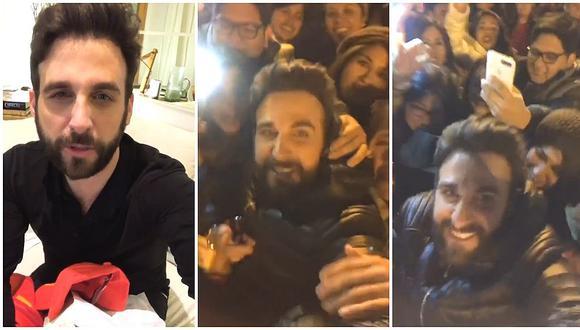 Rodrigo González se reúne con sus fans en Madrid y todo se salió de control (VIDEO)