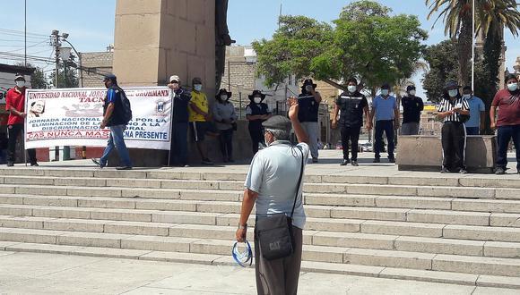 Protestan exigiendo derogar el régimen CAS