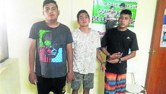 Detienen a tres jóvenes tras robar un celular