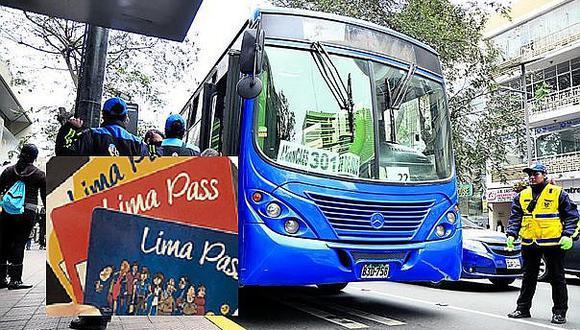 Transporte urbano: Uso de tarjetas en corredores empieza el jueves 18 de abril