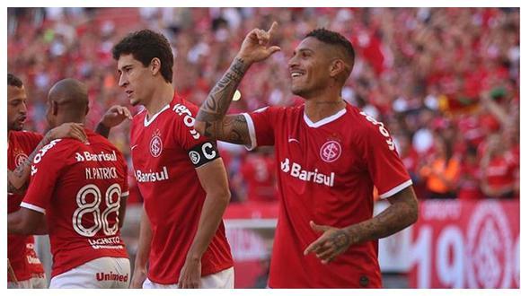 Paolo Guerrero abrió el marcador en el Internacional vs Flamengo con un golazo de cabeza (VIDEO)