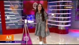 Rebeca Escribens imitó a 'Uchulú' y enseñó más de lo debido (VIDEO)