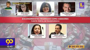 Los exlegisladores que regresan al Congreso como asesores
