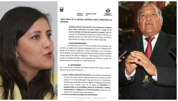 Gobierno Regional de Arequipa formaliza denuncia a gobernador de Moquegua