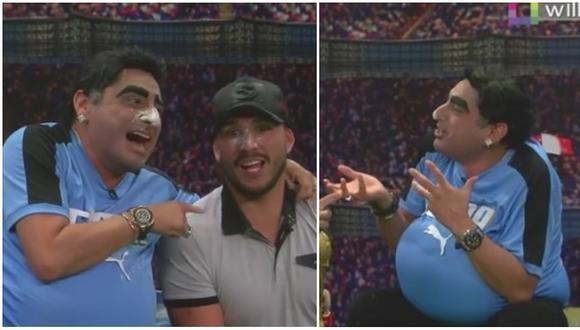 Carlos Álvarez parodió gestos de Diego Maradona en partido contra Nigeria (VIDEO)